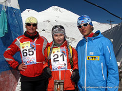 Oksana Stefanishina - in centre; Andrzej Bargiel - to right; Andrew Puchinin - to left;