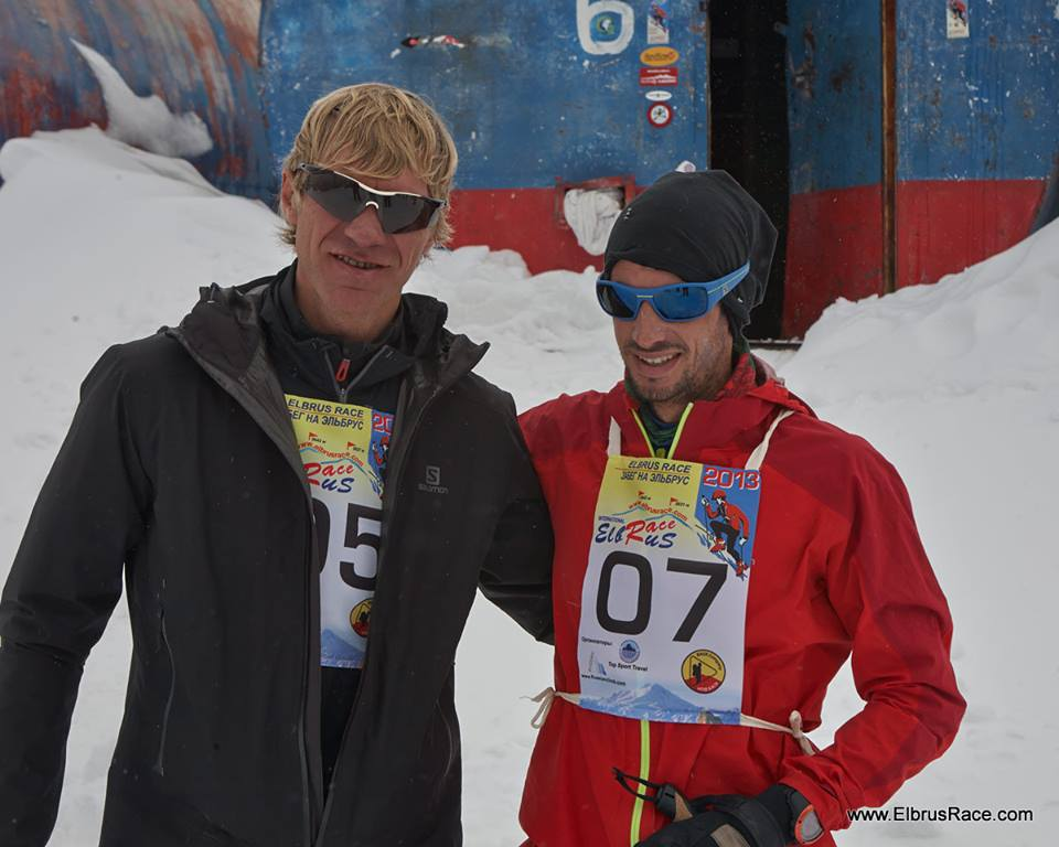 Vitaliy Shkel and Kilian Jornet at Elbrus Race
